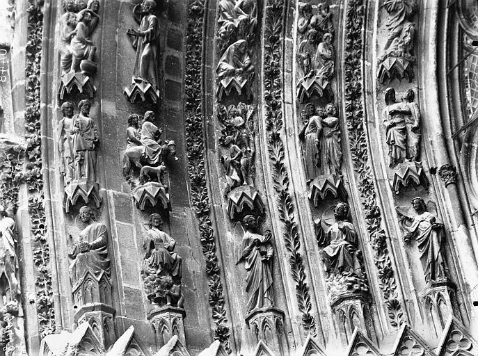 Cathédrale Notre-Dame Portail ouest, porte gauche, voussure de gauche, partie inférieure, Lajoie, Abel,