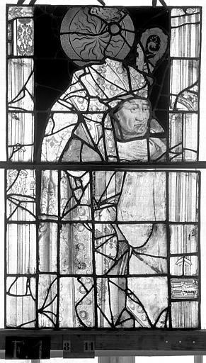 Eglise Saint-Maclou Vitrail, chapelle des Quatre Confessionnaux, huitième panneau, Heuzé, Henri (photographe),