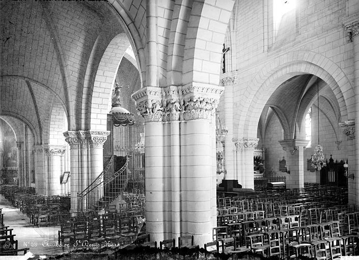 Eglise Saint-Denis Vue intérieure de la nef, prise du bas-côté nord vers le sud-est, Mieusement, Médéric (photographe),
