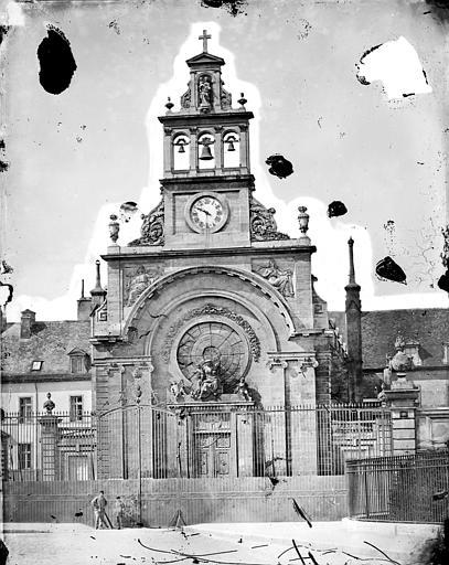 Hôpital général ; Hospice du Saint-Esprit (ancien) Chapelle Sainte-Croix de Jérusalem : Façade ouest, Delaunay (photographe),