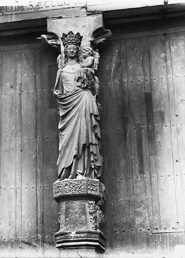 Cathédrale Notre-Dame Portail ouest, La Vierge et l'Enfant, Lajoie, Abel,