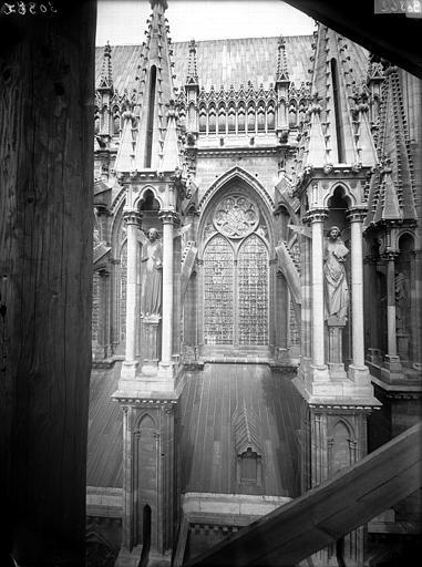Cathédrale Notre-Dame Fenêtre de la façade sud, entre sixième et septième contrefort, Lajoie, Abel,