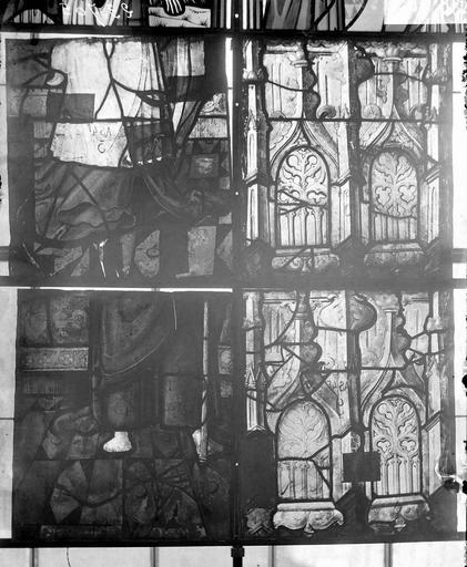 Eglise Vitraux, panneaux 2, 5, 8, 11 de la baie D, Nadeau, H. (photographe),