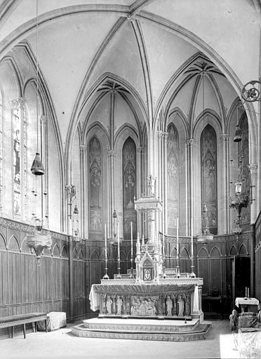 Séminaire (ancien) ; Musée de la Tapisserie de Bayeux Vue intérieure de la chapelle, Heuzé, Henri (photographe),