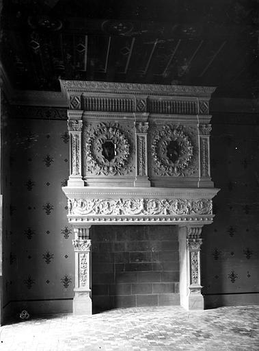 Hôtel Pincé Grande salle : Cheminée, Berthault (photographe),