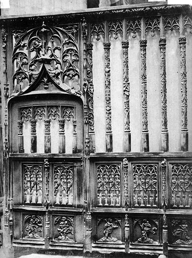 Cathédrale Notre-Dame Clôture en bois d'une chapelle, Mieusement, Médéric (photographe),
