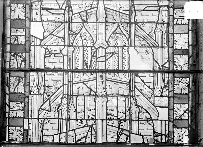 Cathédrale Saint-Etienne (ancienne) Vitrail du transept nord, fenêtre A, panneau médian du précédent, Romanais (photographe),