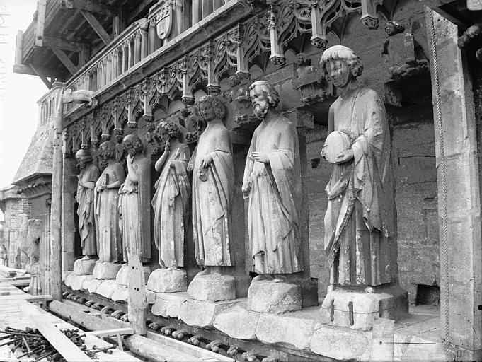 Cathédrale Notre-Dame Bras sud du transept, Galerie des Prophètes, Lajoie, Abel,