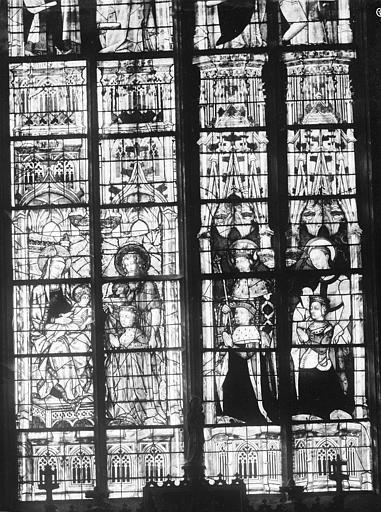 Sainte-Chapelle Vitrail : saints personnages, Leprévost (photographe),