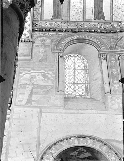 Eglise Sainte-Radegonde Vue intérieure du choeur : 1ère fenêtre, côté nord, Gossin (photographe),