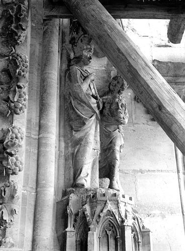 Cathédrale Notre-Dame Portail ouest, groupe, David portant la tête de Goliath, Lajoie, Abel,