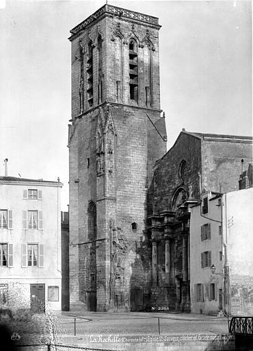 Eglise Saint-Sauveur Façade ouest et clocher en perspective, Mieusement, Médéric (photographe),