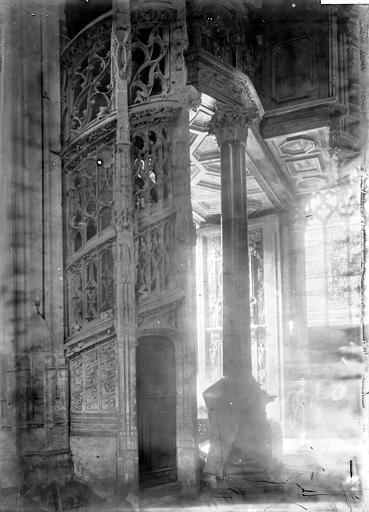 Eglise Saint-Maclou Escalier des orgues, Enlart, Camille (historien),