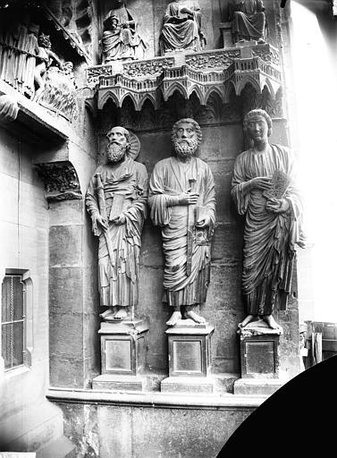 Cathédrale Notre-Dame Portail nord, porte de la Résurrection, ébrasement gauche, Lajoie, Abel,