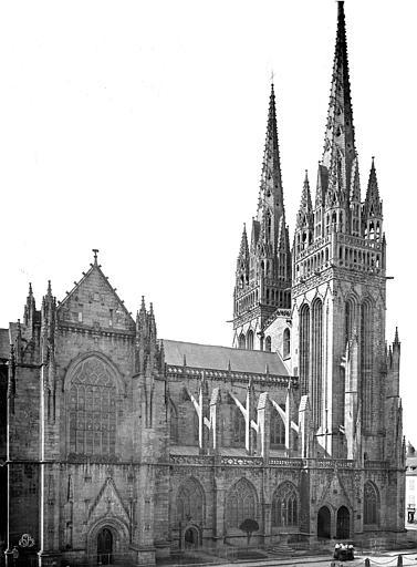 Cathédrale Saint-Corentin Façade nord : transept et partie ouest, Mieusement, Médéric (photographe),