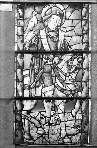 Eglise Saint-Gengoult Vitrail de la façade ouest, 2ème lancette à gauche 4, 5, 6, Romanais (photographe),