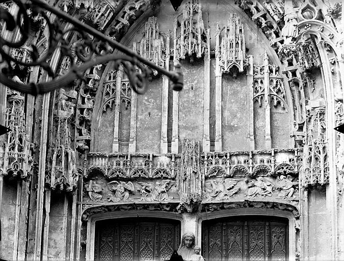 Eglise Saint-Gervais-Saint-Protais Portail nord, tympan, Gossin (photographe),
