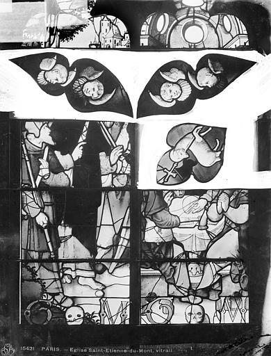 Eglise Saint-Etienne-du-Mont Vitrail : tympans, Leprévost (photographe),