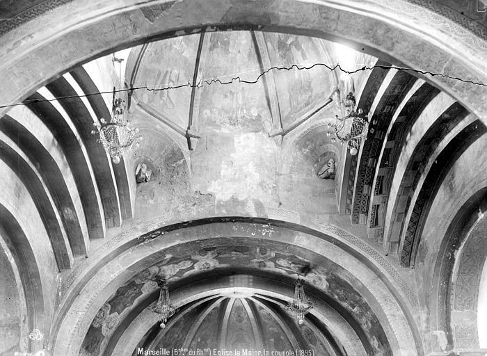 Eglise de la Vieille-Major Vue intérieure de la coupole, Mieusement, Médéric (photographe),