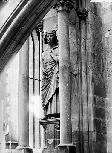 Cathédrale Notre-Dame Statue de roi dite de saint Louis, Lajoie, Abel,