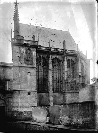 Sainte Chapelle Façade latérale, Enlart, Camille (historien),