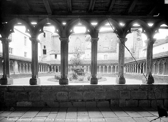 Couvent des Carmes (ancien) Cloître : Vue d'ensemble prise de galerie sud, Mieusement, Médéric (photographe),