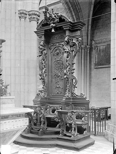 Cathédrale Saint-Bénigne Chaire épiscopale, Gossin (photographe),