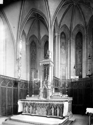 Séminaire (ancien) Chapelle : Vue intérieure du choeur, Durand, Jean-Eugène (photographe),
