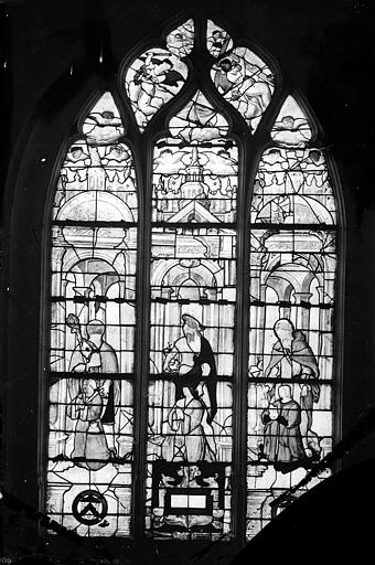 Eglise Saint-Bonnet Vitrail : donateurs et leurs patrons, Leprévost (photographe),