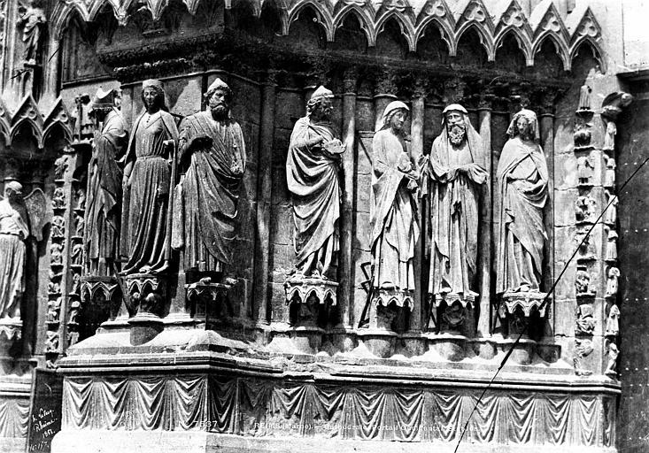Cathédrale Notre-Dame Portail central de la façade ouest : ébrasement gauche, Le Secq, Henri (photographe),