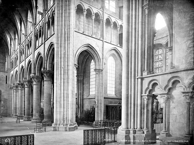 Eglise Notre-Dame Vue intérieure du transept et du bas-côté sud, Mieusement, Médéric (photographe),