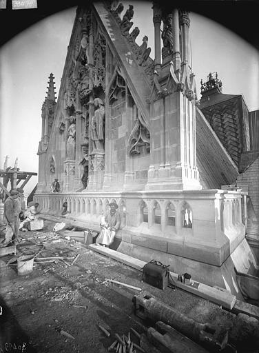 Cathédrale Notre-Dame Pignon du bras nord du transept, après restauration, Lajoie, Abel,