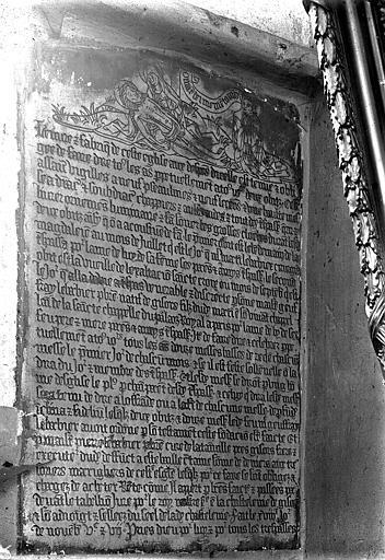Eglise Saint-Gervais-Saint-Protais Inscription, Gossin (photographe),