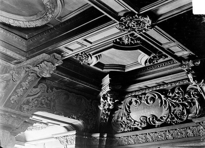 Hôpital général (ancien) ; Collège des Jésuites (ancien) ; Hospice général Museux Bibliothèque : Plafond, Sainsaulieu, Max (photographe),