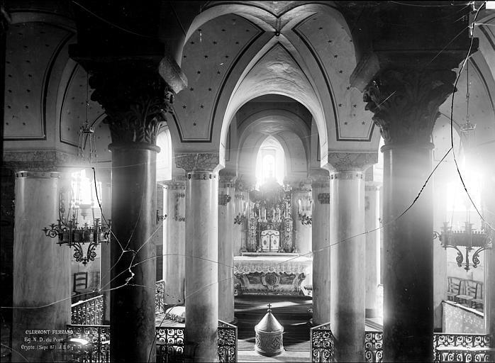 Eglise Notre-Dame-du-Port Crypte : Vue intérieure du choeur, Durand, Jean-Eugène (photographe),