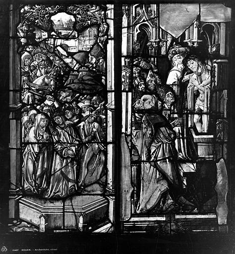 Archevêché Vitrail, Descente de croix, Rencontre des saintes femmes, Leprévost (photographe),
