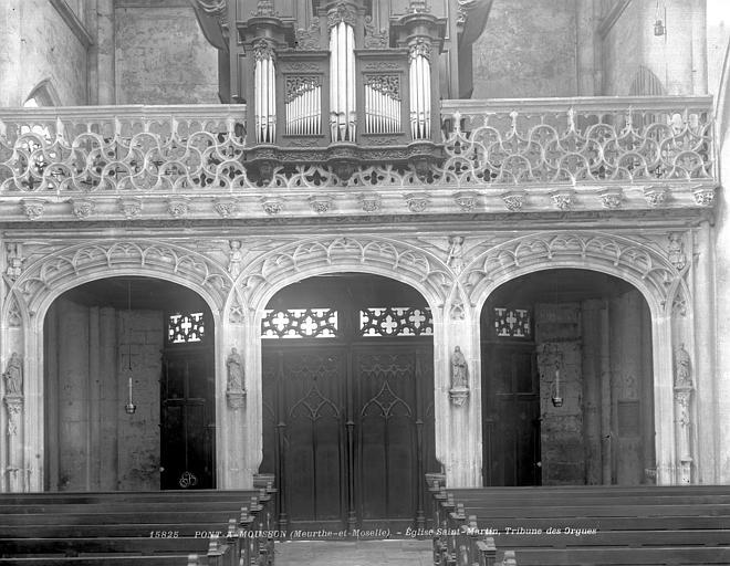 Eglise Saint-Martin Tribune du buffet d'orgue, Neurdein (frères) ; Neurdein, Louis ; Neurdein, Louis (photographe),