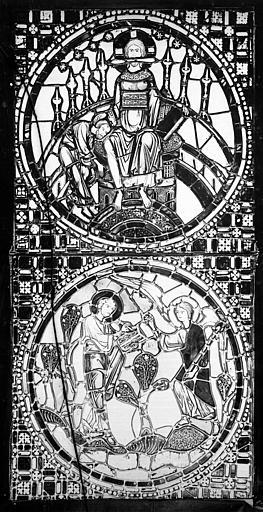 Cathédrale Saint-Jean Vitrail : Saint Jean l'évangéliste. Vision de l'Apocalypse, ,