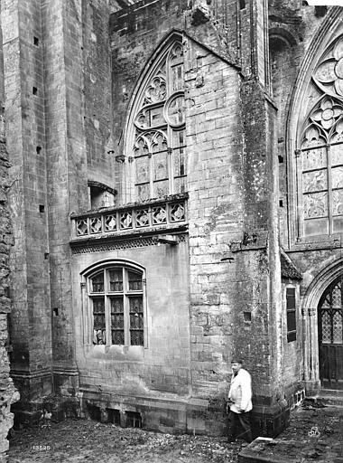 Cathédrale Notre-Dame Façade nord : partie du transept et sacristie, Mieusement, Médéric (photographe),
