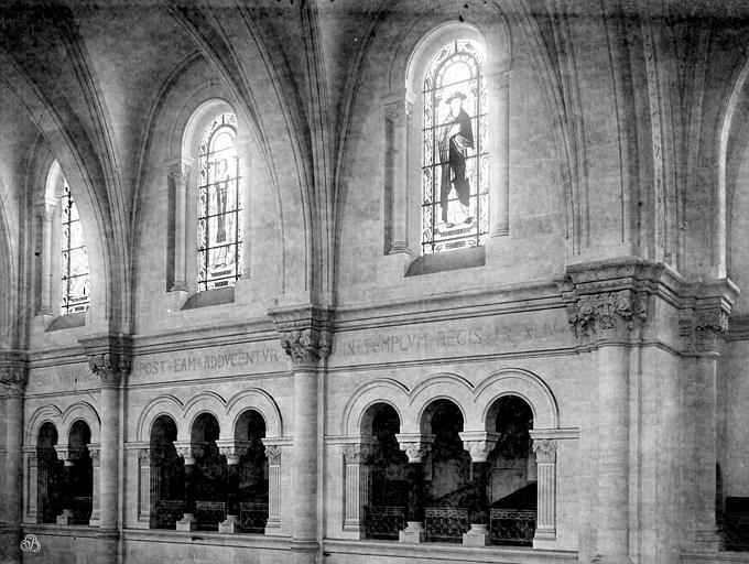 Cathédrale Notre-Dame Vue intérieure de la nef : Triforium et fenêtres hautes, Mieusement, Médéric (photographe),
