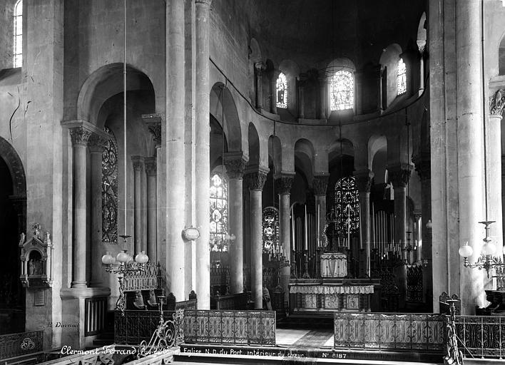 Eglise Notre-Dame-du-Port Choeur, Durand, Eugène (photographe),