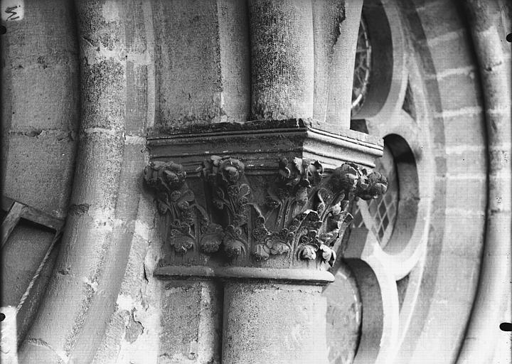 Cathédrale Notre-Dame Chapiteau, oculus du transept, Lajoie, Abel,
