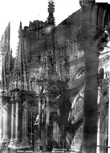 Cathédrale Notre-Dame Façade sud : pinacles et statues des culées, Mieusement, Médéric (photographe),