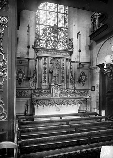 Eglise Notre-Dame ou de la Gloriette Couronnement de retable en fer forgé, Heuzé, Henri (photographe),