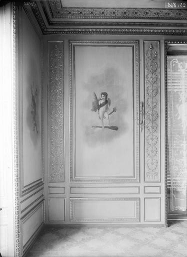 Palais de l'Elysée Salon d'argent, panneaux, à l'est, Durand, Eugène (photographe),