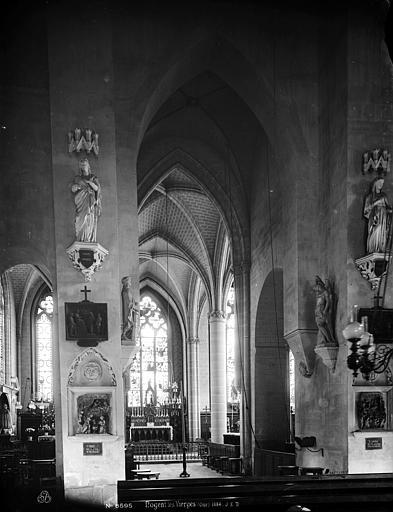 Eglise de Nogent-les-Vierges Nef, vue de l'entrée, Durand, Eugène (photographe),