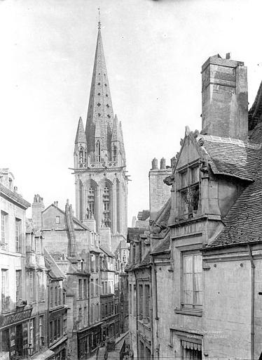Eglise Notre-Dame-de-Froide-Rue (ancienne) ou Eglise Saint-Sauveur (actuelle) Clocher : Vue prise de la rue Froide, Durand, Jean-Eugène (photographe),
