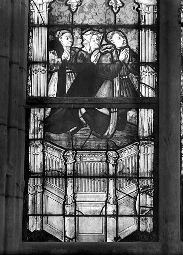 Cathédrale Notre-Dame Vitrail du choeur : Donateurs, Mieusement, Médéric (photographe),