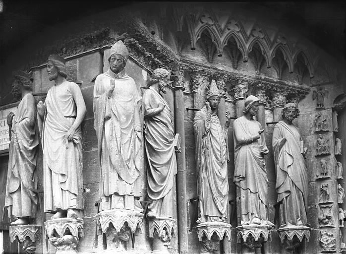 Cathédrale Notre-Dame Portail ouest, porte de droite, ébrasement gauche, Lajoie, Abel,