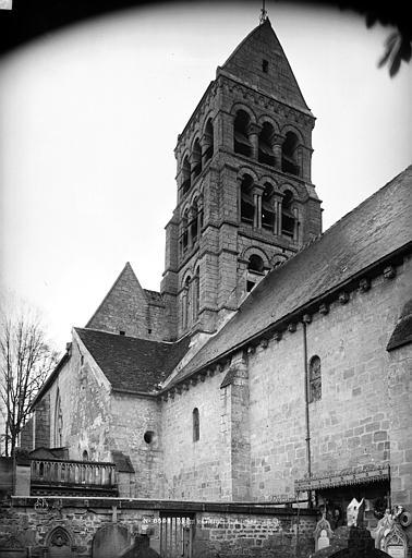Eglise de Nogent-les-Vierges Clocher, Durand, Eugène (photographe),